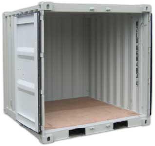 6\' Container - Länge 1,8 m x Breite 1,9 m - Containerverriegelung.de